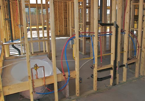 How a house is built s s homes for New construction plumbing rough in